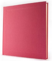 Crushed Strawberry Pink Linen Photograph Album